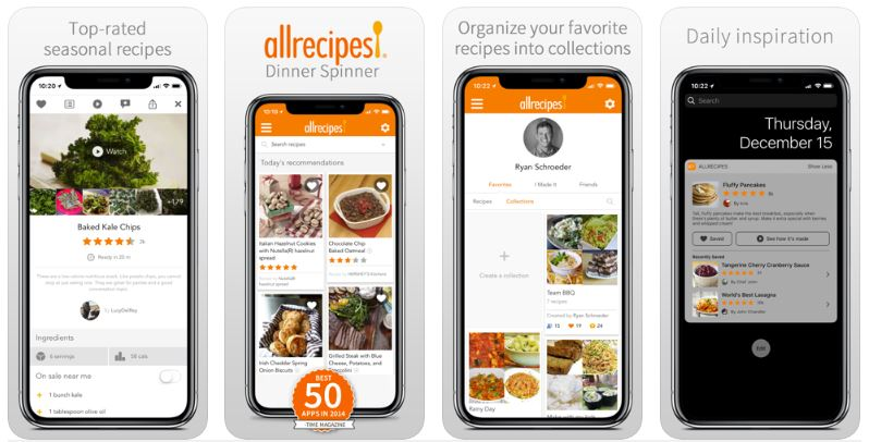 Allrecipes Dinner Spinner App Review - Appedus App Review
